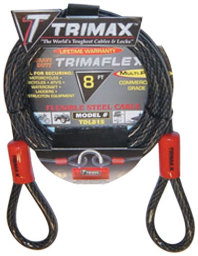 Trimax VMAX6 Multi-Use Versa Cable Lock 6 ft long x 10mm cable