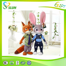 stuffed soft and secure meterial plush fox toy for crazy animal city
