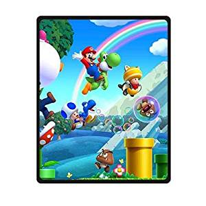 331cc68d81 Get Quotations · VIASHOW Custom Super Mario Bros Fleece Throw Blanket  Indoor   Outdoor Blanket ...