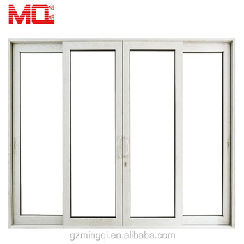 Latest design 4 panel interior glass aluminum frame glass door