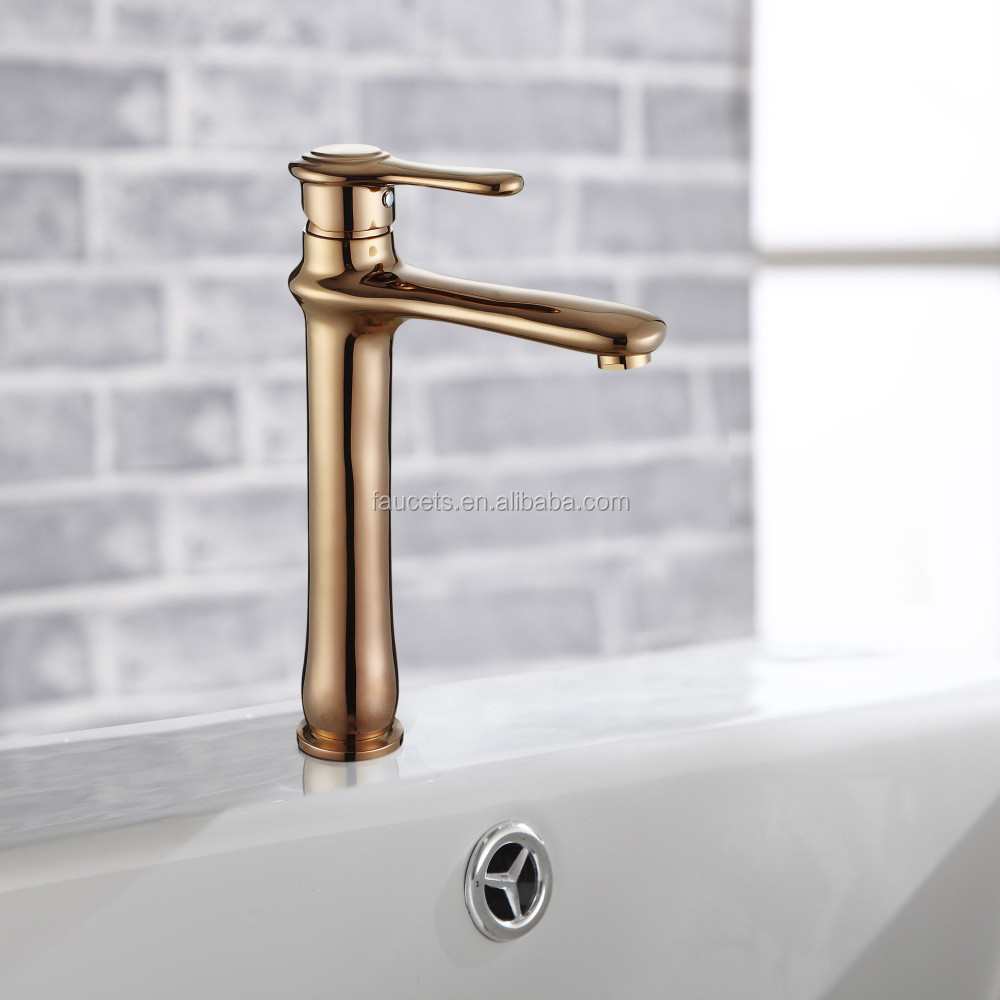 Rose Golden Unique Design Bathroom Wash Basin Faucts BNF007BH