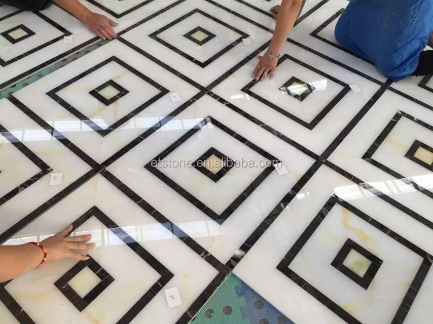 Cheap Marble Floor Design Waterjet Medallion Supplier For