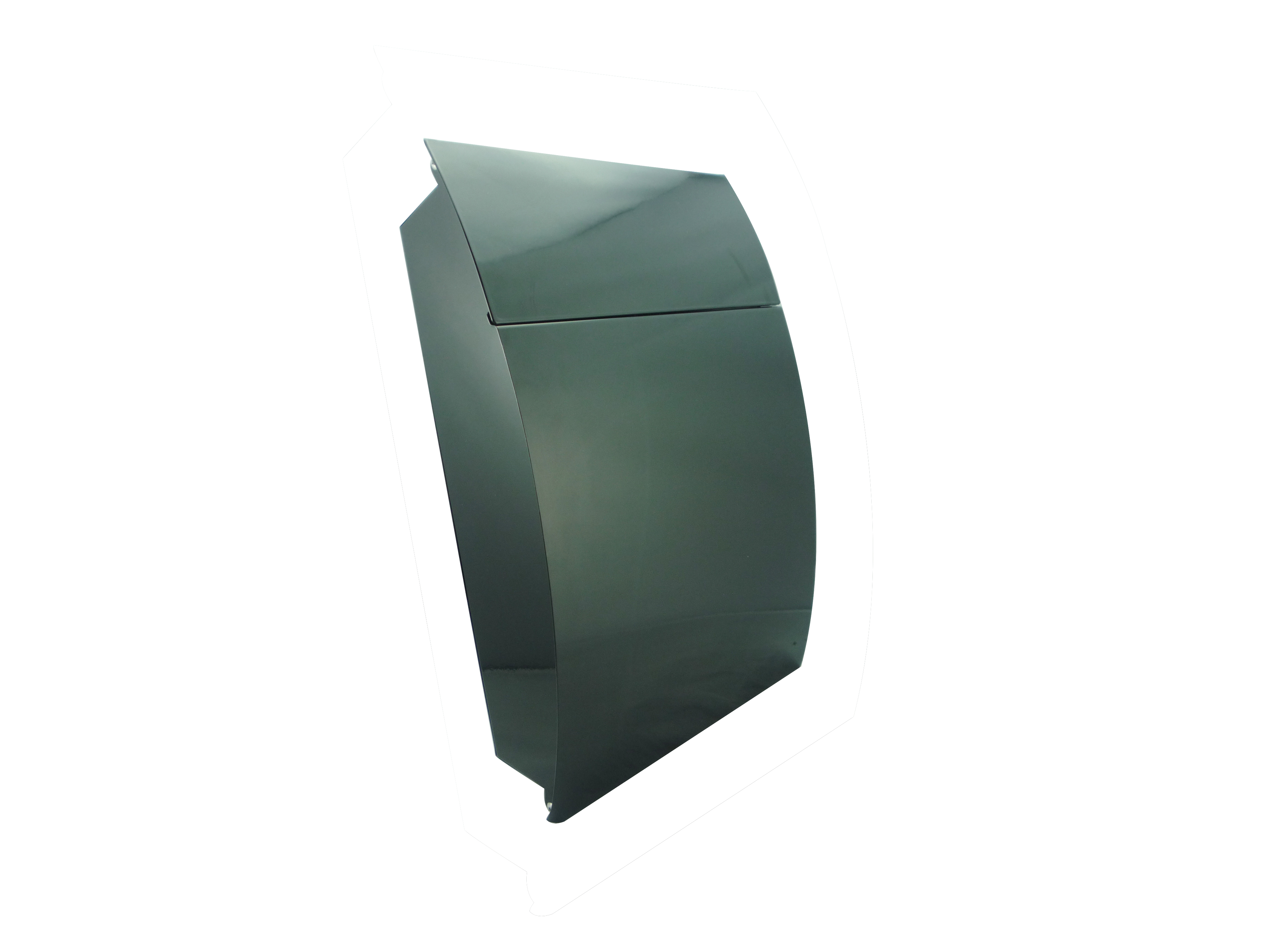 Morden Small Capacity Galvanized Steel Wall-Mount Mailbox Black