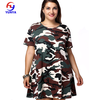 Summer Short Fat Women Shirts Plus Size Clothing Camouflage Dress - Buy  Camouflage Dress,Short Fat Women Dress,Plus Size Clothing Product on ...