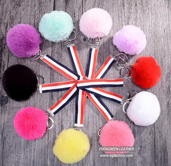 Fashion fur ball decoration new design accessories gift key chain FT073