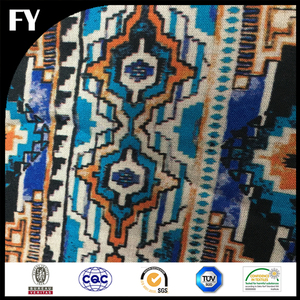 China Supplier Best Print Stretch Viscose Fabric Textile Pattern for Men Shirt One Fabric Display