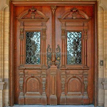 Fancy Elegant Entry Wood Door Design