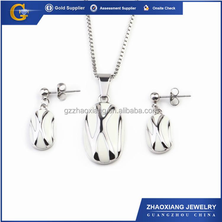 Erjs0088 Milk Enamel Stainless Steel Dulhan Jewellery Set
