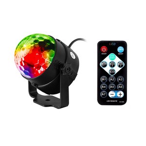 Hot Saling LED Crystal Magic Ball 3W Mini RGB Stage Lighting Party Disco Club DJ Light Sound Control Stage Light