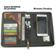 Handmade Personalized Travel Custom PU Leather Passport Holder with power bank and wireless charging
