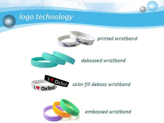 colorful slap silicone wristband