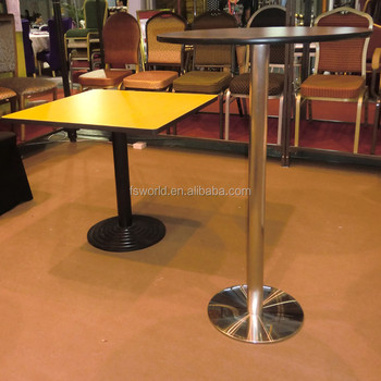 Wholesale Stainless Steel Base High Top Bar Table/used For ...