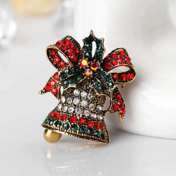 feb705929f8f2 Christmas Metal Badges Brooches Female Cute Rhinestone Pins And Brooches  Badge Bells Collar Pin Brooch Vintage - Buy Christmas Metal Badge ...