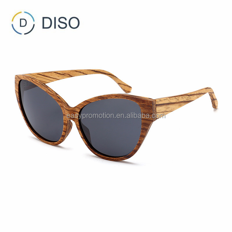 Zebrawood cat eye custom wood sunglasses, wooden sunglasses bamboo