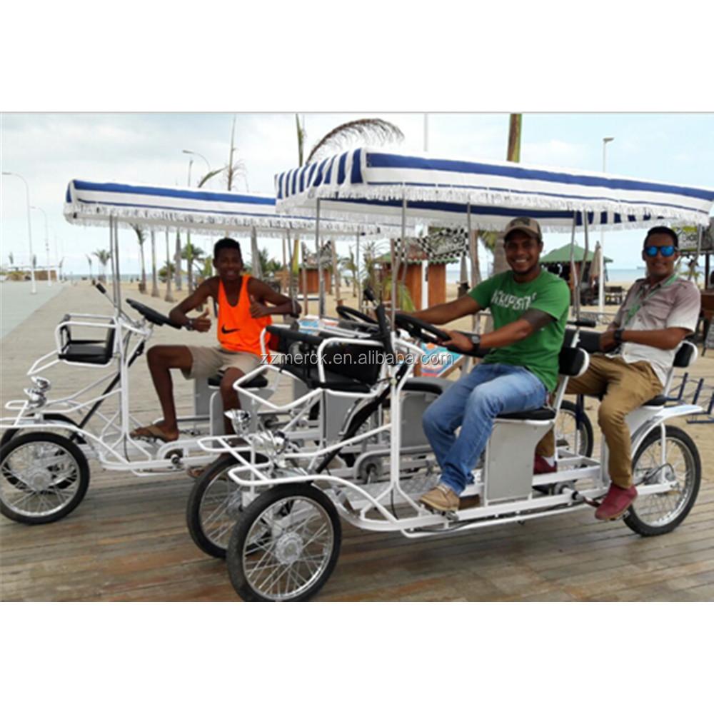 Bestselling 4 Wheeler Tandem Rental Passengers 4 Person Adult Pedal Car