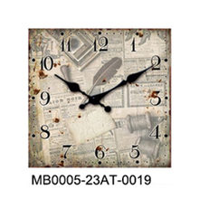 ODM fashion wall clock home decor with metal antique style indoor art design wall metal clock for home