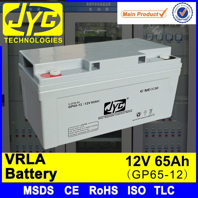 Excellent Safety Performance 12v 65ah max power elevator battery for elevator
