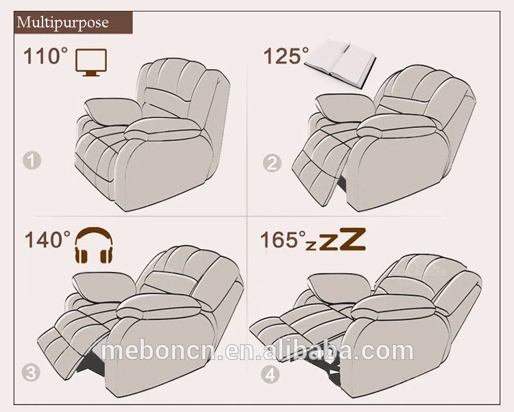 Villa good quality reclining home theater seating chair vip
