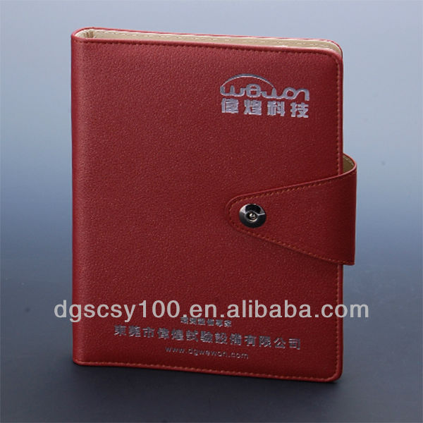 A5 Leather Ring Binder Journal Notebook With Silver
