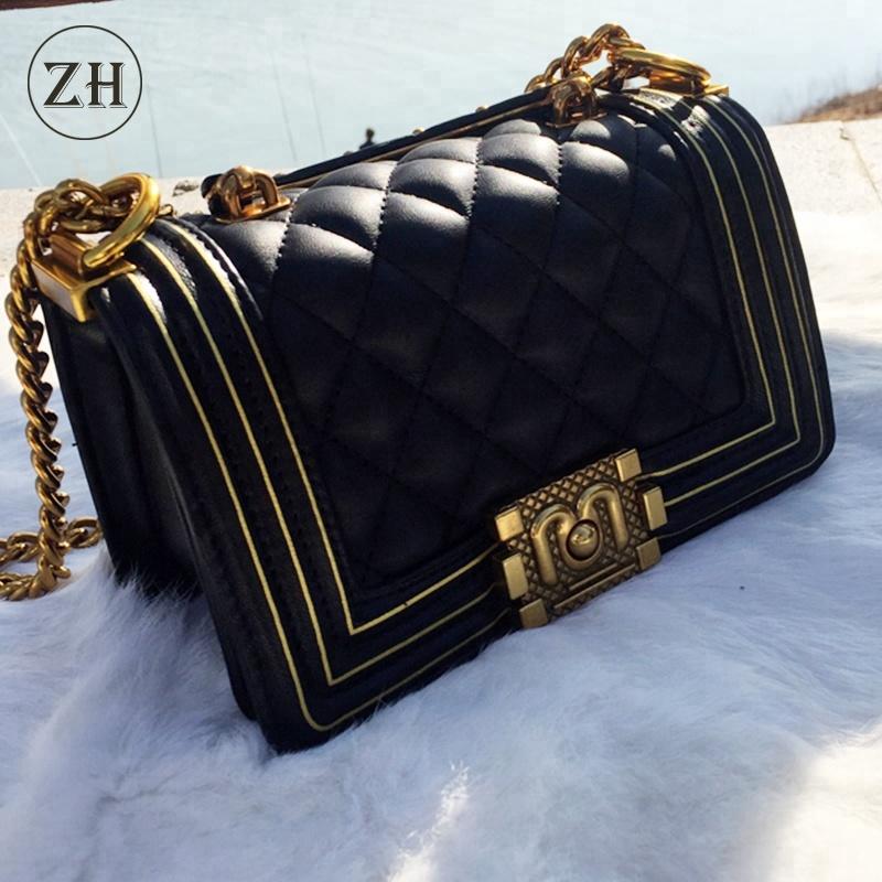 8e7be9a3927fd New style 2018 oem pu women messenger chain crossbody fashion shoulder  handbags women leather bag lady