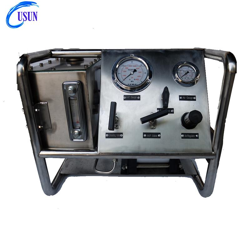 Popular USUN Model:US- AH 80-3200 Bar Compact Haskel air driven hydraulic pump station