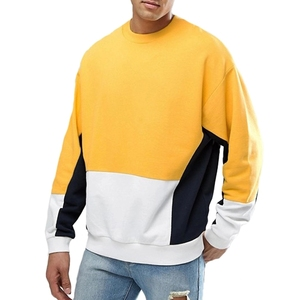 Quality Cotton Crewneck Without Hood French Terry Mens Colorblock Sweatshirt