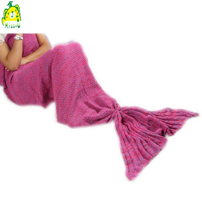Wholesale custom stuffed mermaid tail plush blanket