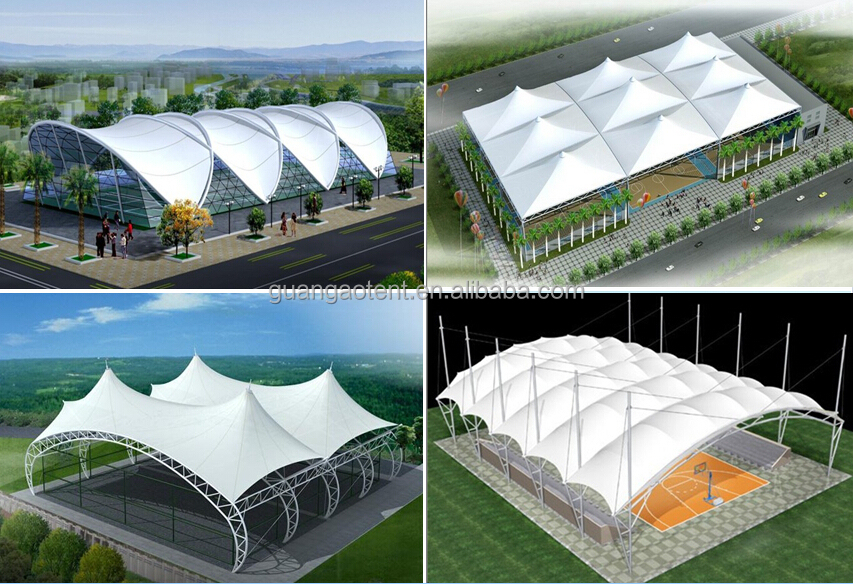 Etfe Tensile Membrane Structure For Mall Shopping Street