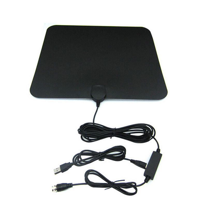 Vendita caldo Piatto HD Digitale Amplificata Antenna TV Interna 50 miglia di Gamma TV ISDB ATSC-T DVB-T2 Digital TV Antenna