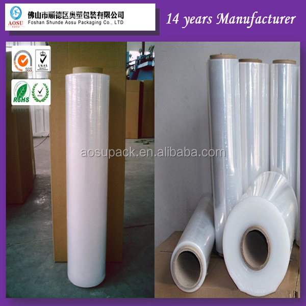 Custom plastic jumb high transparent packaging Stretch <strong>film</strong>