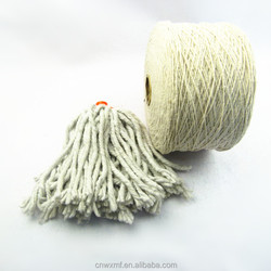 manufacturer wholesale Knitting cheap recycled cotton mop yarn