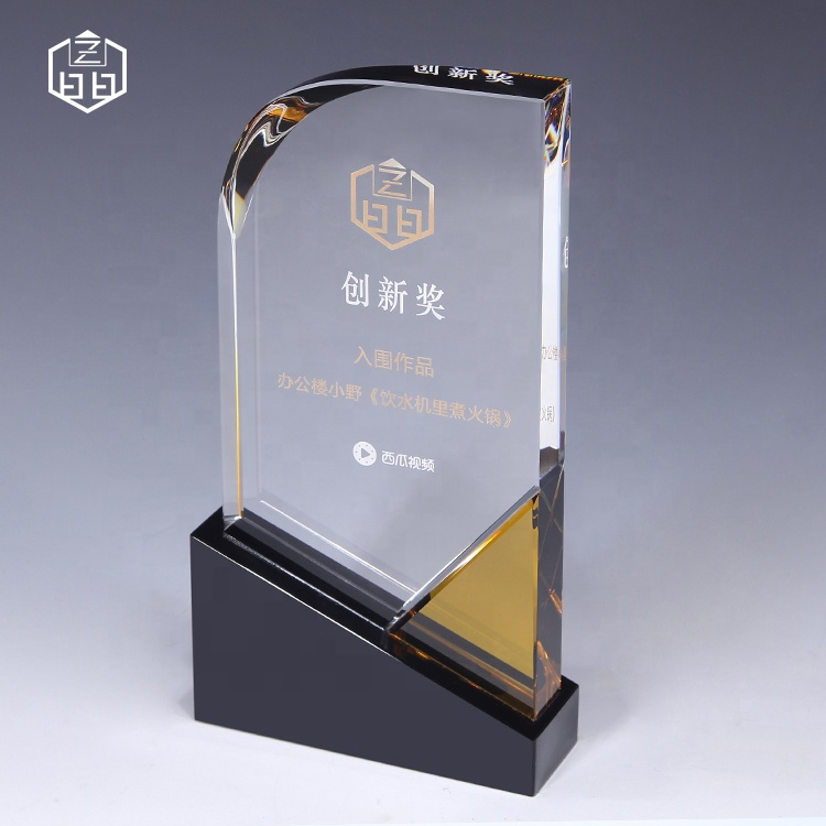 Design de destaque Creative Customize Crystal Award Trophy