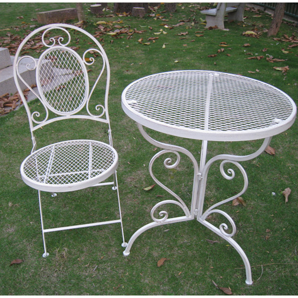 Hot Selling Shabby Chic Black Metal Mesh Patio Furniture