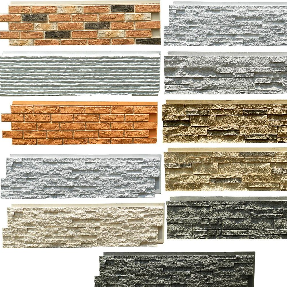 Polyurethane Beauty Cheap Decorative Wall Panel PU faux stone wall panels