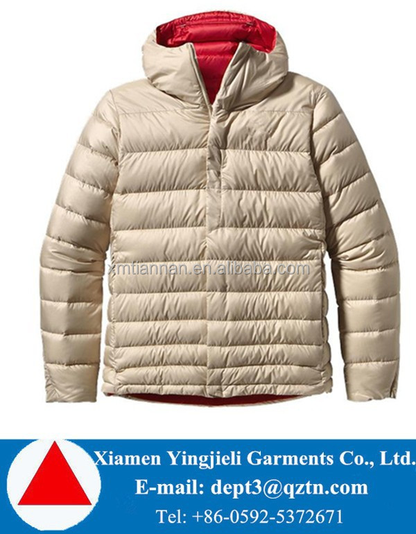Outdoorwear Shinny Men Goose Down Jacket for the Winter