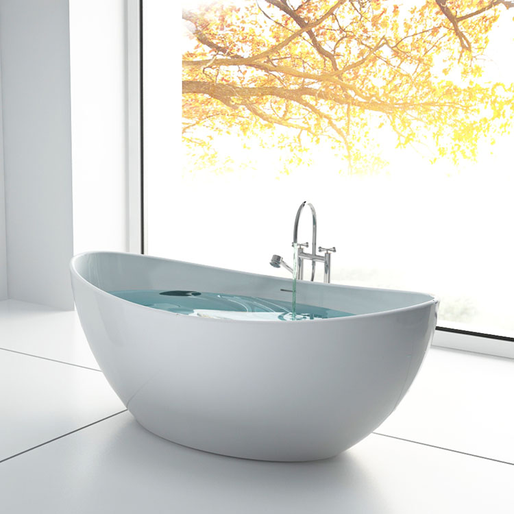 SM-8633A Small size resin poly stone bathtubs & whirlpools