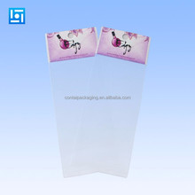 Plastic potted bag custom printed flower carrier OPP transparent plastic flower bags