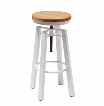 Peachy Metal Frame Solid Wood Swivel Adjustable Bar Stools View Adjustable Stool Fixed Bar Stool Mooka Product Details From Xiamen Mooka Import And Export Pdpeps Interior Chair Design Pdpepsorg