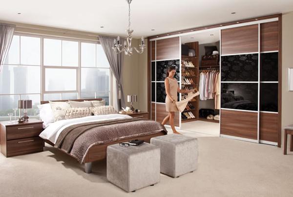 Slaapkamer Met Wandkast : Moderne slaapkamer meubilair kleding kast slaapkamer kasten buy
