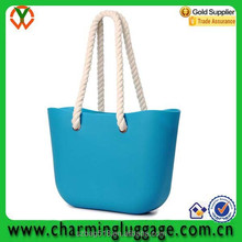cheap stylish 2015 silicone beach bag with rope handle/waterproof beach bag