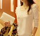 Latest wholesale blouse ladies tops woman slim lace fashion lace long sleeve shirt