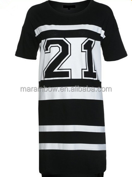 Hot sale stylish girls custom made oversized cotton jersey for Custom football shirt printing