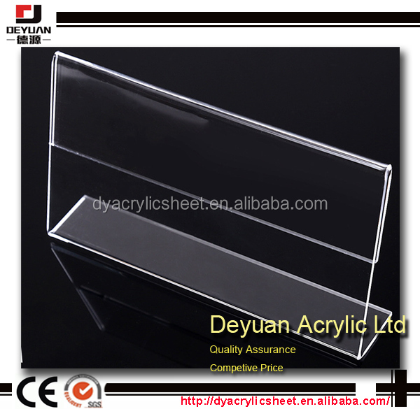 Disply on desk sign holders acrylic products