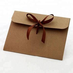 Wholesale Fancy Custom Paper A4 Size Brown Kraft Envelope Packaging
