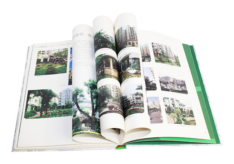 Luxury brand product hardcover magazine catalog book printing with PVC jacket