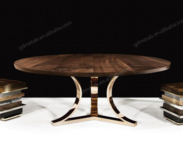 Modern Design Customized Stainless Steel Metal Wooden Table Leg.