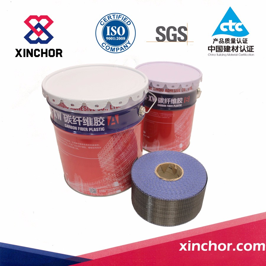 tow component fast curing epoxy carbon fiber flattening glue for bridge reinforcement