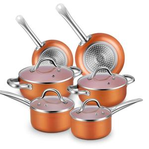 Aluminum non-stick coating happy baron cookware set stainless steel articulos de cocina