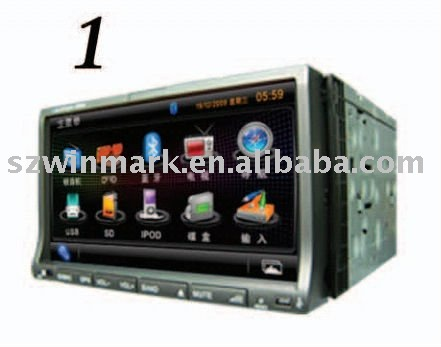 7 inch Car DVD player with Bluetooth GPS IPOD