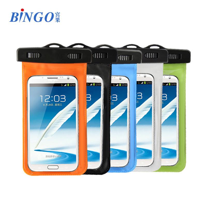 d878314223c Bingo IPX8 Fabricante PVC Funda Bolsa Impermeable Universal 5.5 pulgadas de  Celular ajuste para todos smartphones